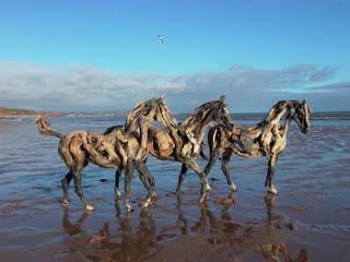 esculturas de caballos Driftwoodhorse12vn8