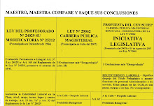COMPARACION ENTRE LA LEY DEL PROFESORADO Y LA PROPUESTA DE LOS USURPADORES DEL CEN DEL SUTEP