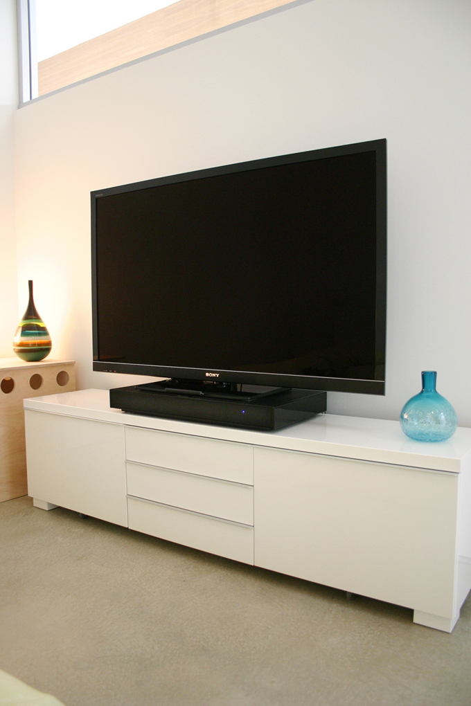 Master bedroom entertainment center tatami house for Bedroom entertainment center