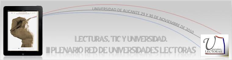 III Encuentro Plenario Universidades Lectoras