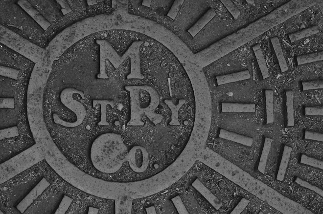 Historic Market Street Railway Manhole Cover in San Francisco, California