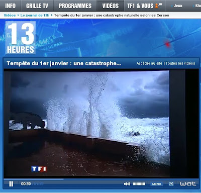 tempete en corse sur TF1