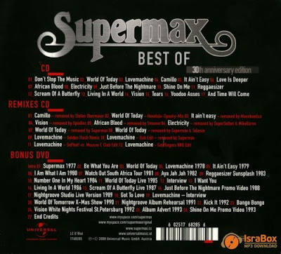 Supermax - Best Of (30th Anniversary Edition)