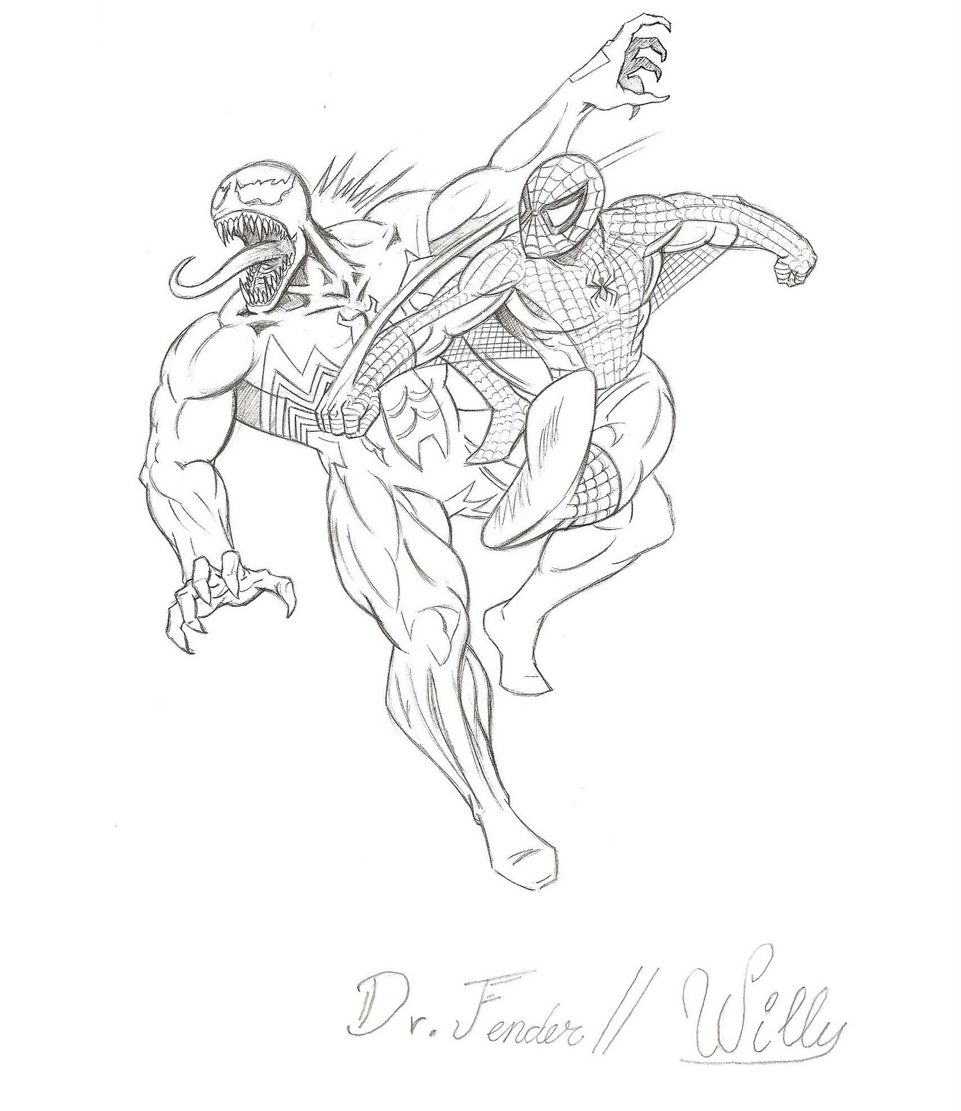 Dibujos Para Colorear De Spiderman Vs Venom ~ Ideas Creativas Sobre ...
