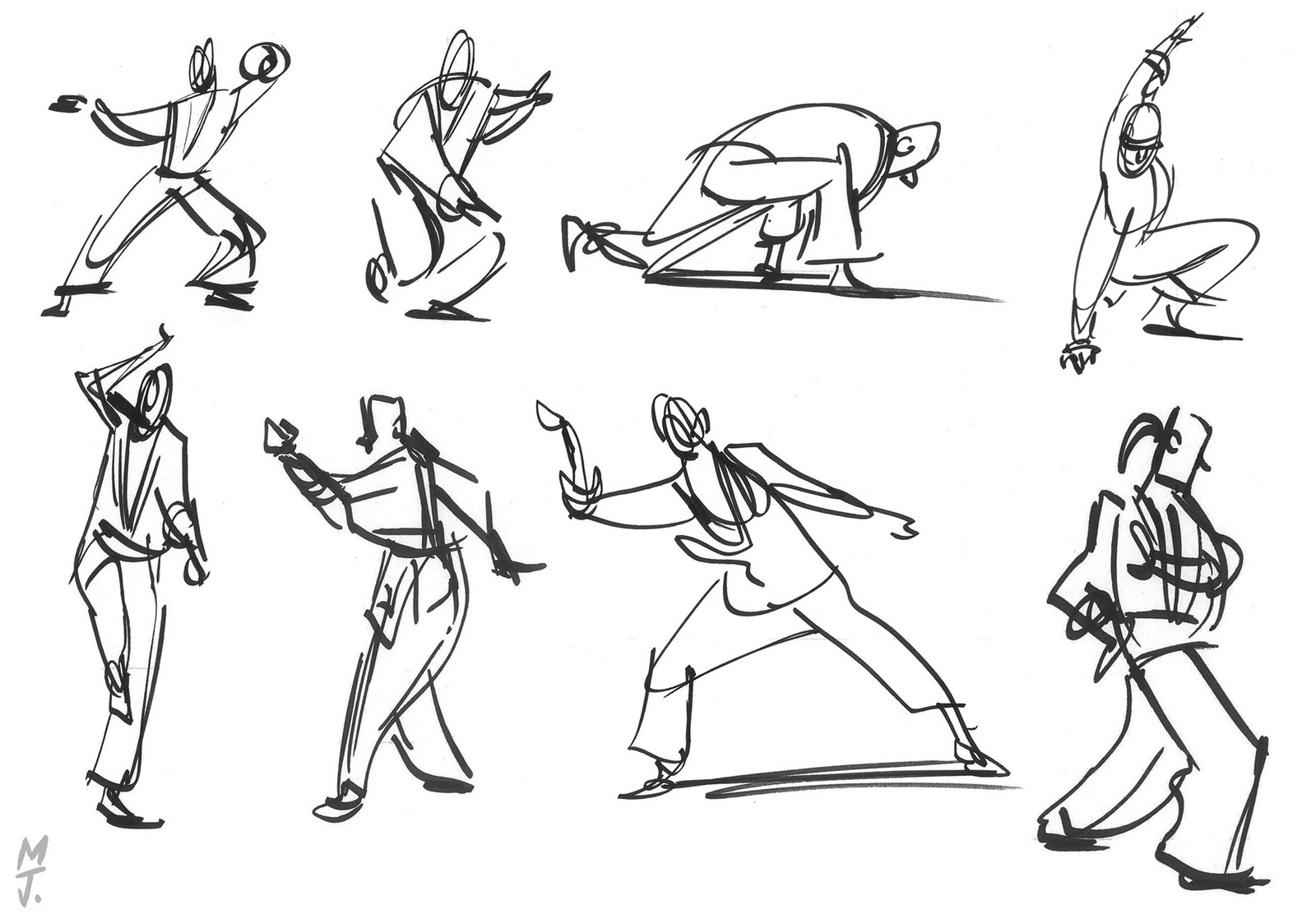 Scribble Gesture Drawing : Gesture drawing poses imgkid the image kid has it