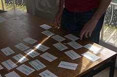 A Card Sort in Progress photo by Yandle