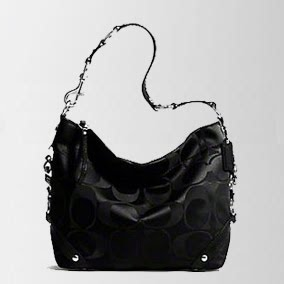 Coach 15250 Signature Sateen Black Carly