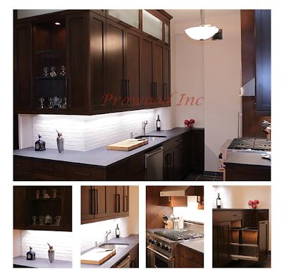 Custom Rift Rosewood Veneered Kitchen Cabinet / Polished Gloss Finish On  Island