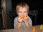 Blake loves his oranges