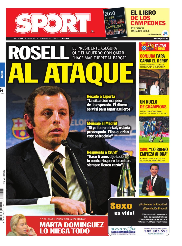 La portada del 14-12-2010 Primera portada de sanción