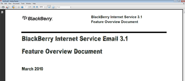 Full BlackBerry Internet Service (BIS) 3.1 Details in Leaked PDF