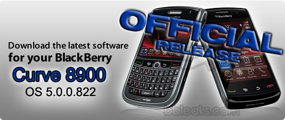 Official: BlackBerry Curve 8900 OS 5.0.0.822 from Hutchinson