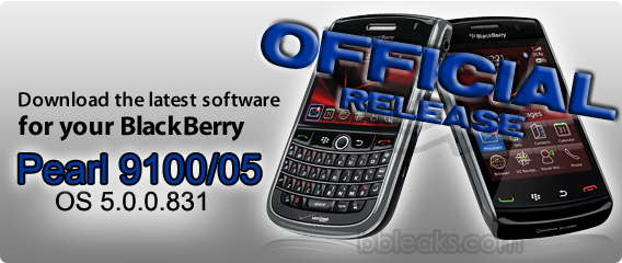 Official: BlackBerry Pearl 3G 9100 & 9105 OS 5.0.0.831 from Trigcom