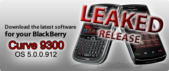 Leaked: BlackBerry Curve 9300 OS 5.0.0.912