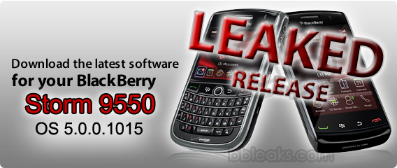Leaked: BlackBerry Storm2 9550 OS 5.0.0.1015
