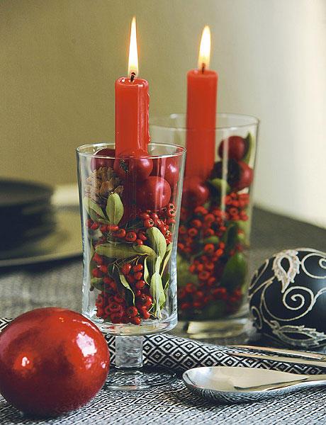Velas en la navidad labores en red for Adornos navidenos con copas y velas