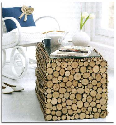 como reciclar troncos