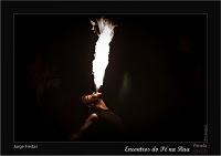 Espectáculo de fogo por Jorge Freitas e Mark Juggler