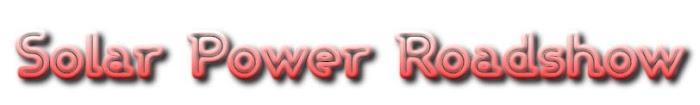 Updated Solar Power Roadshow Activities List