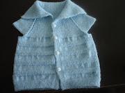 . bebek yelek modelleri,mavi bebek yelek modelleri