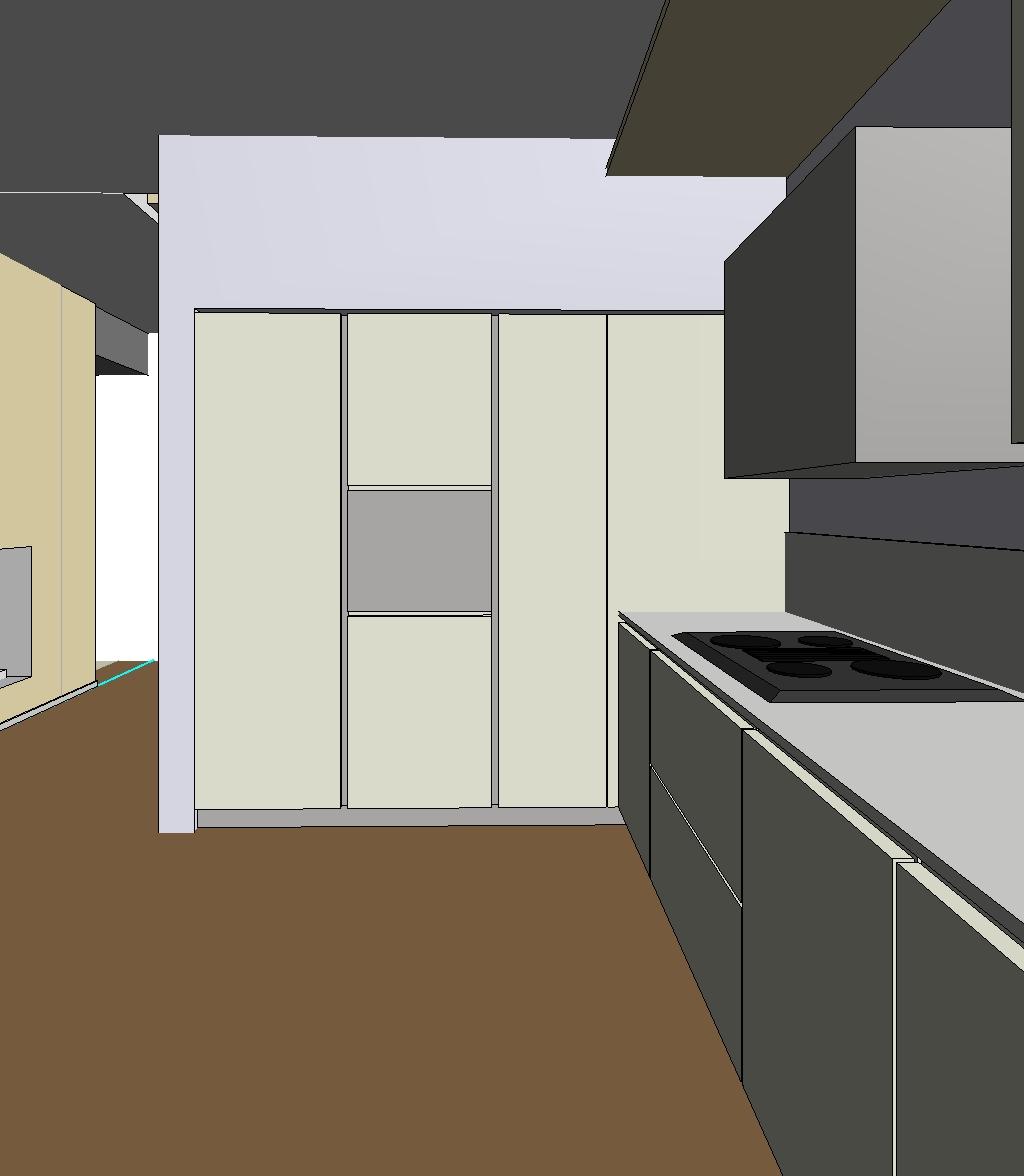 ilfotocane: Progetto di interno - Cucina e elemento in cartongesso con ...