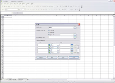 OpenOffice.org 3.0 Calc Solver tool