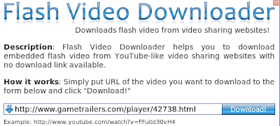 Flash Video Downloader widget of Opera