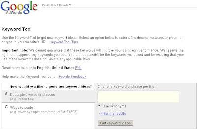 Google Keyword Suggestion Tool