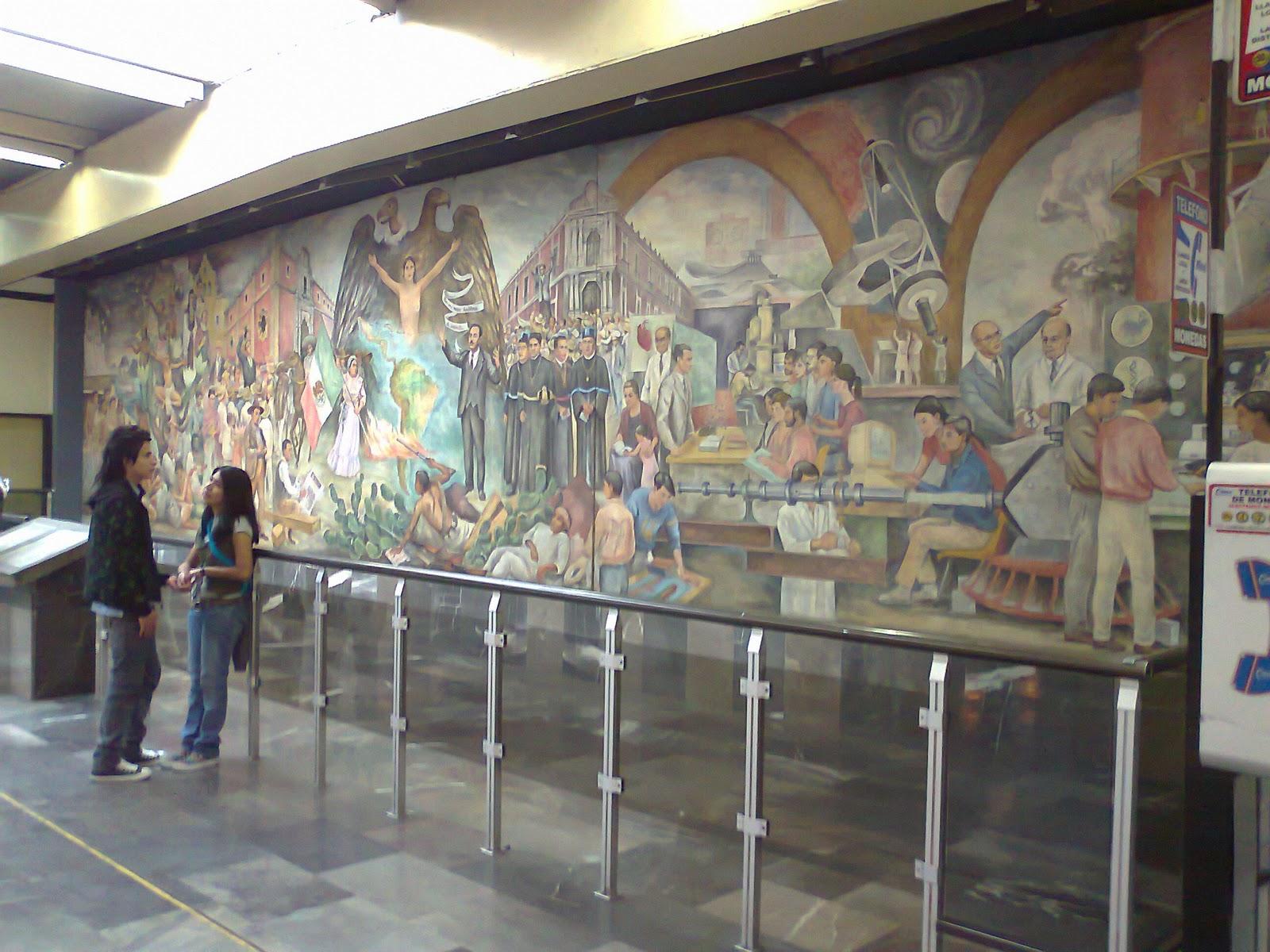Mural del metro universidad l nea 3 contemplaci n for Mural metro u de chile