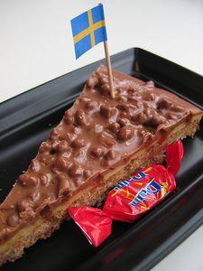 Kerek csokoládé, lyukas csokoládé...: Daim Almondy Daim Taart Recept