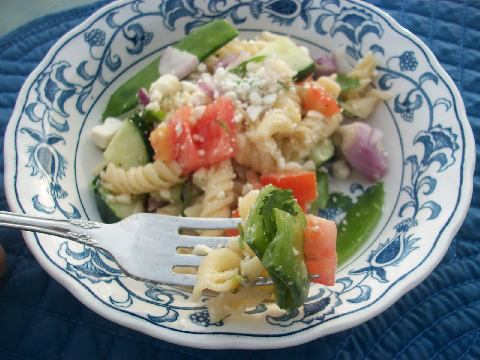 Spring Pasta Salad with Truffle Oil