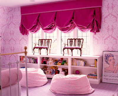 not sure if this is a bedroom or playroom but it looks quite inviting