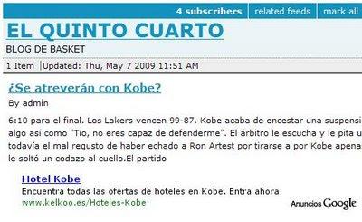 Publicidad contextual Kobe