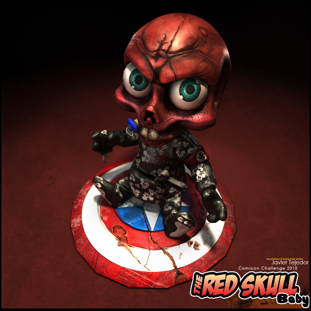 RED SKULL BABY Comicon Challenge 2010+turnable