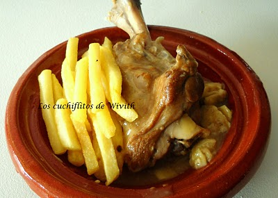 Capricho de jarretes de ternasco de Aragón con caracoles