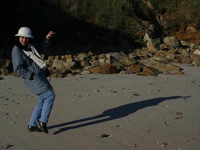 Najia Abeer en Bretagne (Janvier 2005 - photo Serge Gilard)
