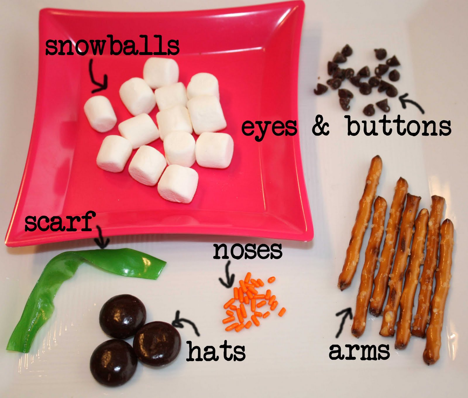 Gourmet Mom On The Go Mixed Up Snowman Snacks Snack