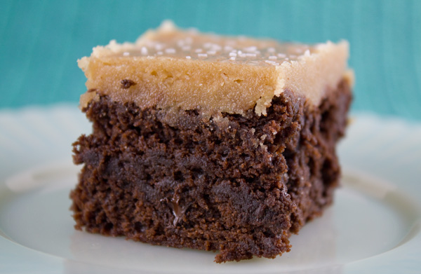 fudge brownies with salted caramel topping yield 24 brownies 1 cup 2 ...