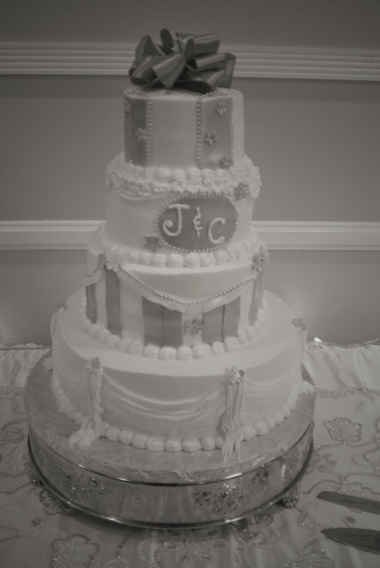 Cake Crystal and Jays Wedding
