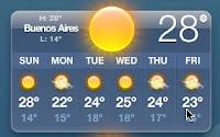The weather @ Bizarro BsAs