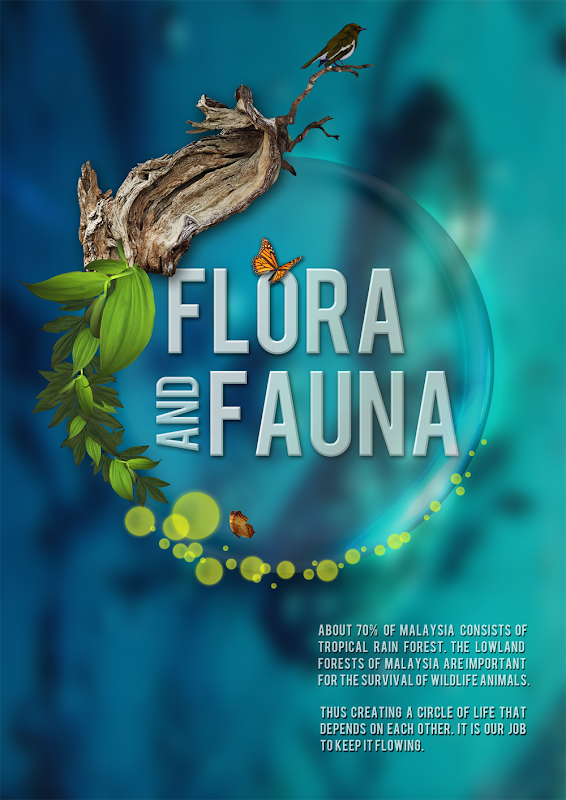 mediavotion  flora and fauna poster