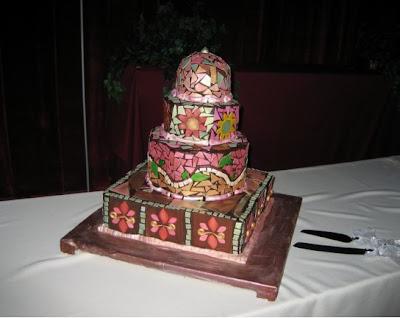 Crazy Colorful Wedding Cake