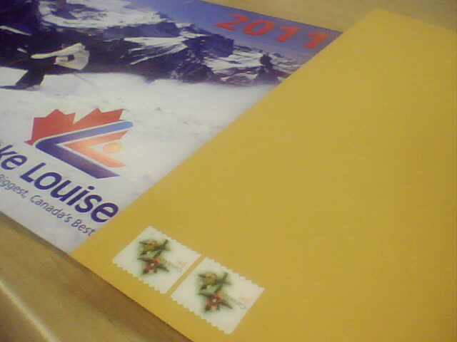 I didn't know how to send a letter in Canada. I asked and sent letter to my