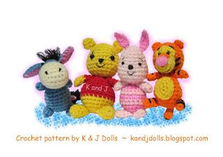 Winnie the Pooh Amigurumi easy crochet pattern for beginners