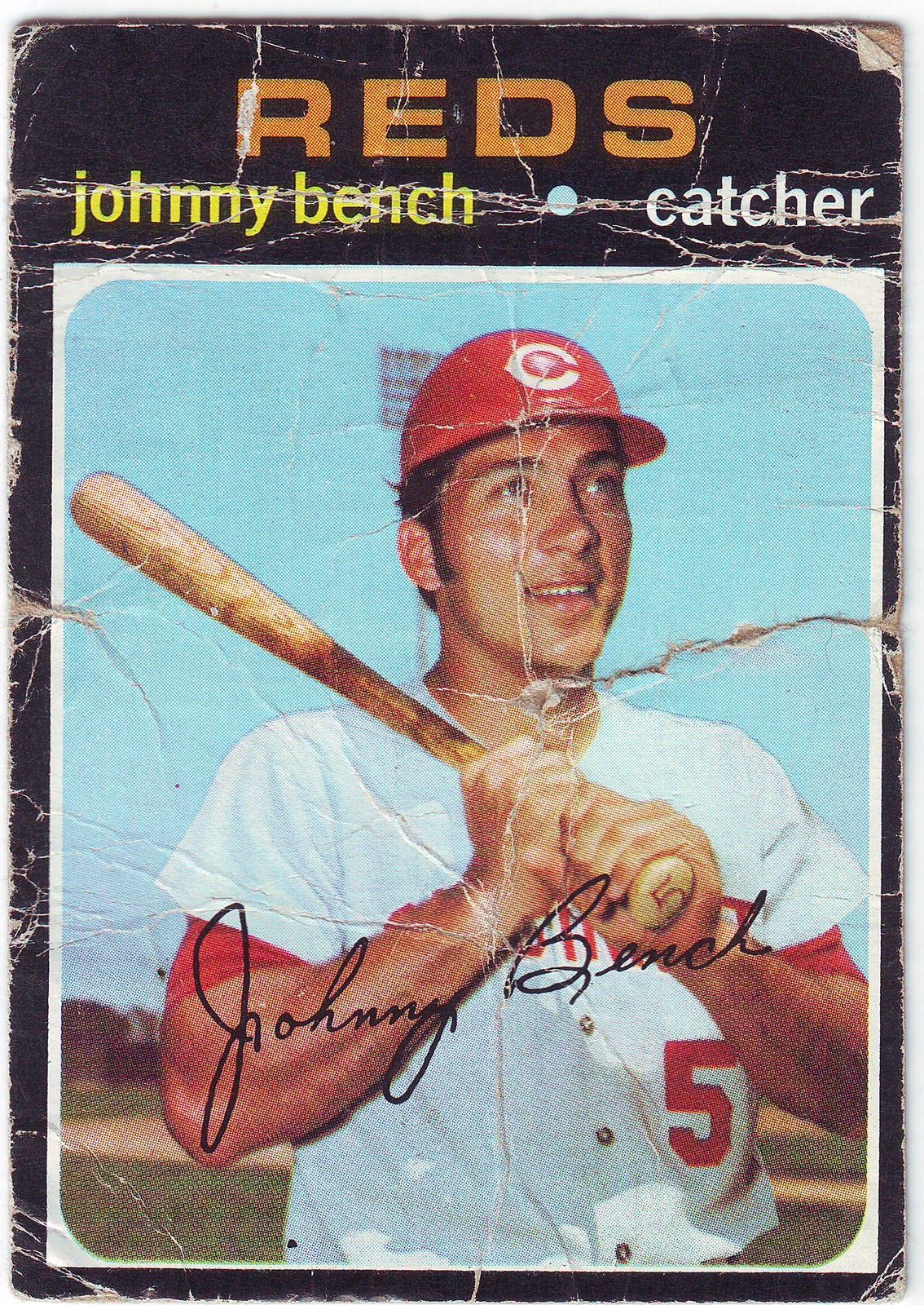 Pobc 1971 Topps Johnny Bench