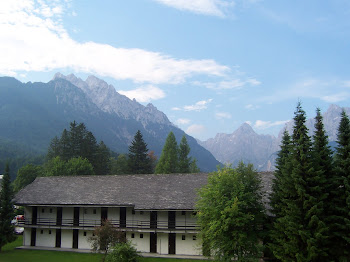 View of my hotel window in Kranjska Gora