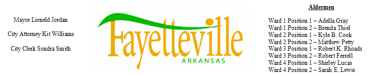 Fayetteville, Arkansas City Council Agenda Blog