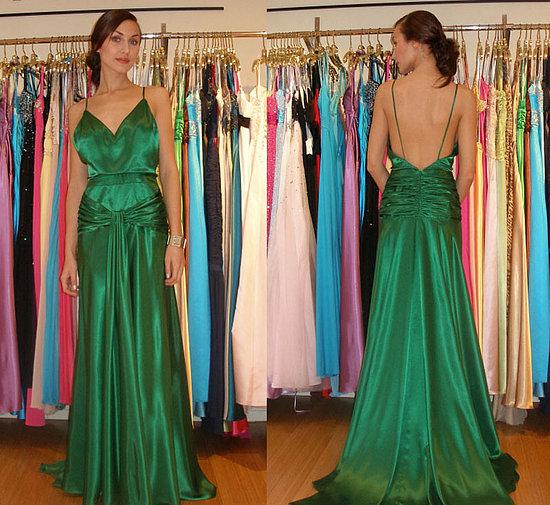 emerald green prom dresses