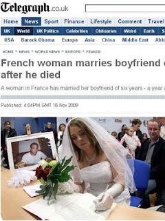 Casamento com um morto? Na França pode! Absurdo!!
