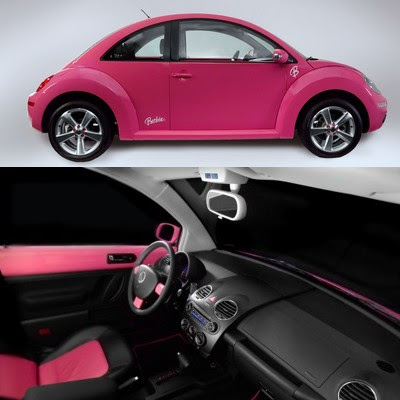 pink vw beetle for sale. vw barbie car (rock hill,